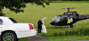 Hochzeits Helikopter mieten für Ihre Hochzeit