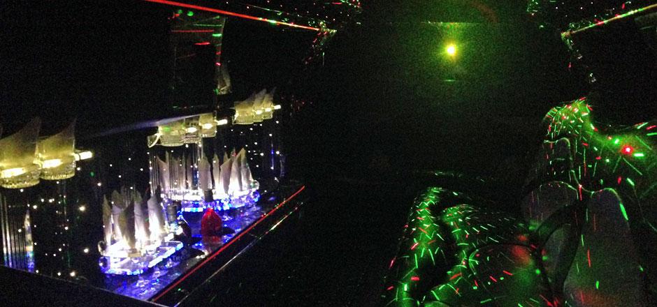 Laser Show Partylimousine mieten Basel