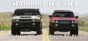 Grössenvergleich Hummer