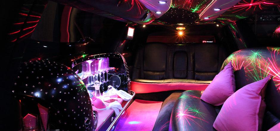 Innenansicht Pink-Limousine Olten